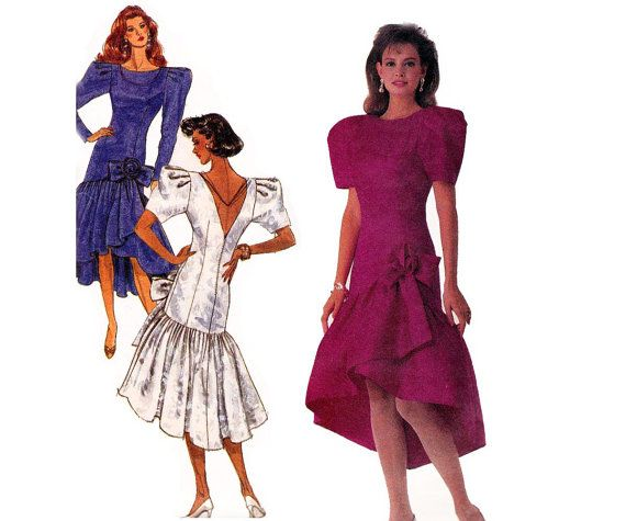 80s Prom Dress Pattern Drop Waist by allthepreciousthings on Etsy ...