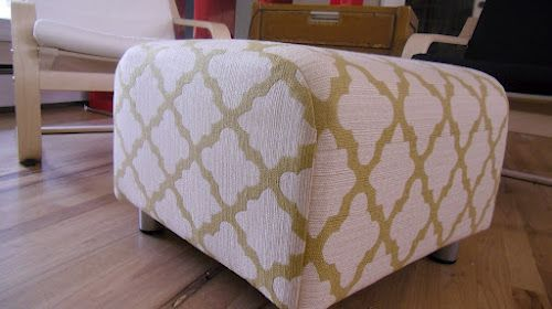 I Say Sew Ikea Klippan Ottoman Cover Ottoman Cover Ikea Diy