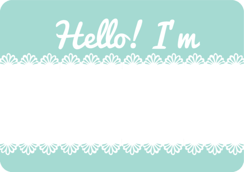 Dainty Lace Name Tag Template For Events Free Printable Name Tag Templates Labels Printables Free Printable Name Tags