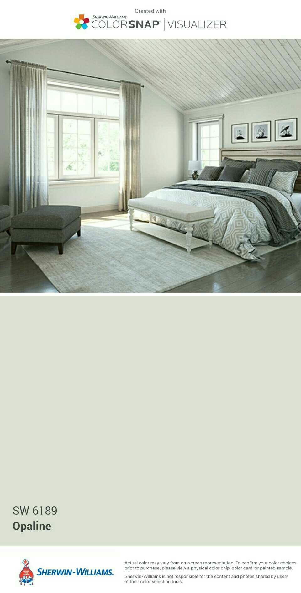 Sherwin Williams Opaline SW 6189 Master Bedroom Lolos
