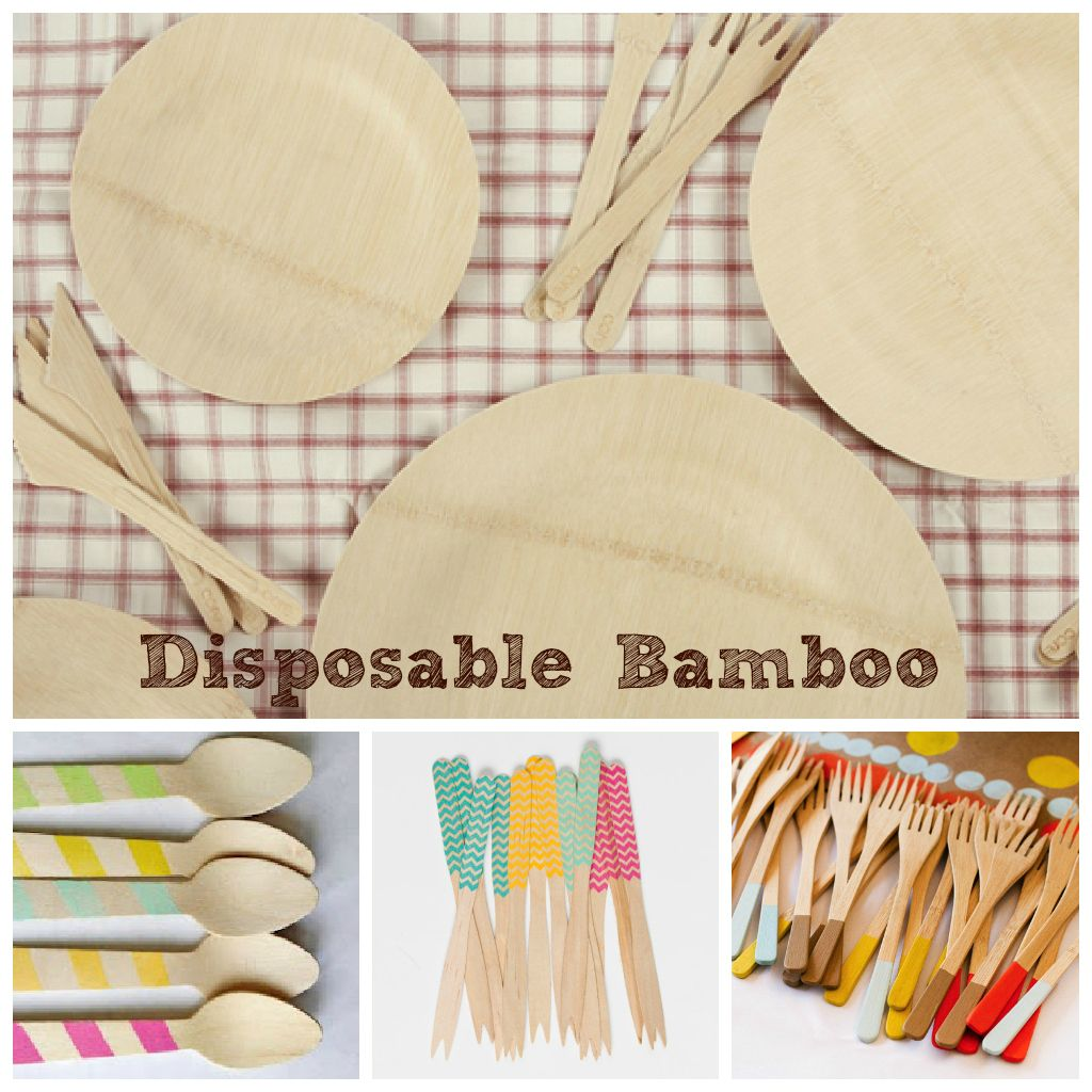 Disposable Bamboo...plates bowls and cutlery for picnic birthday  sc 1 st  Pinterest & Disposable Bamboo...plates bowls and cutlery for picnic birthday ...