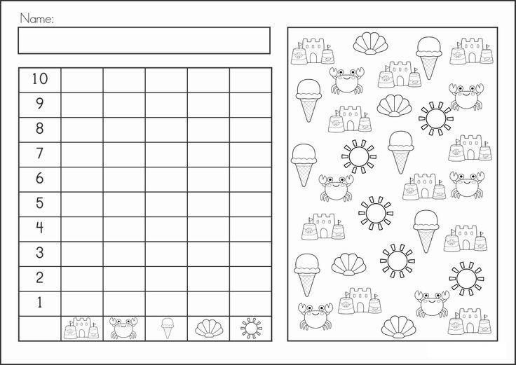 summer graph worksheet | Matemáticas | Pinterest | Grafiken