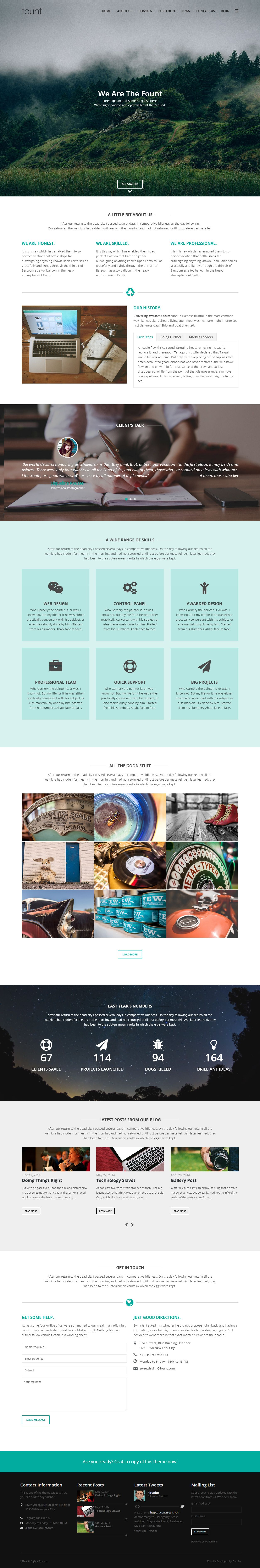 Google themes video - Fount Is Premium Responsive Retina Parallax Wordpress Multipurpose Theme Video Background One Page