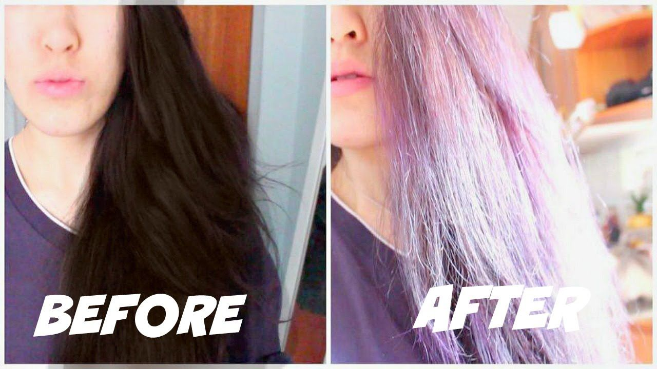 Dying Black Hair Purple Without Bleach