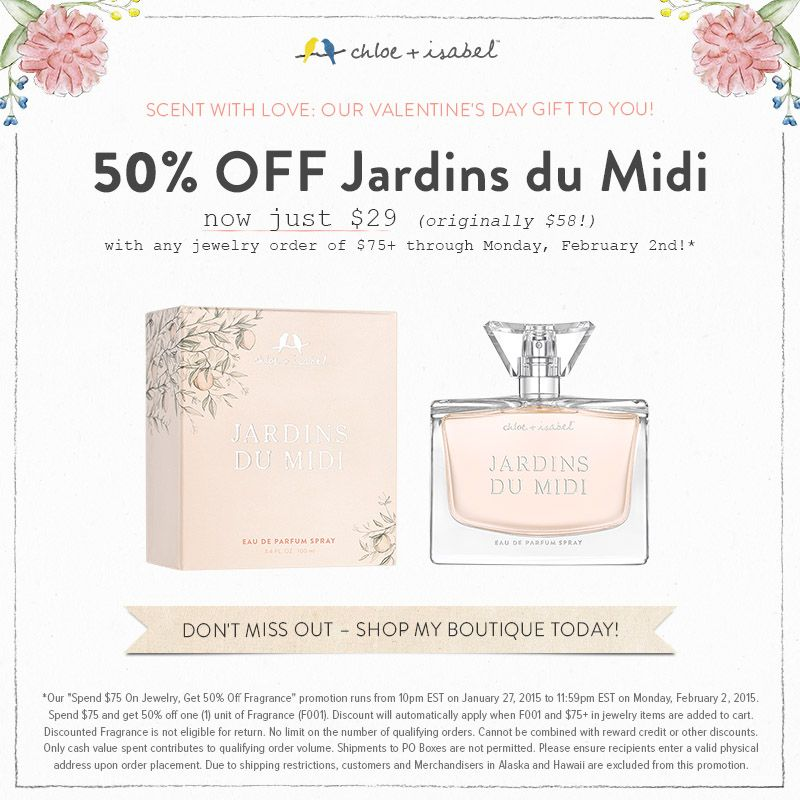 Scent with love our valentine 39 s gift to you for Jardin francais jewelry
