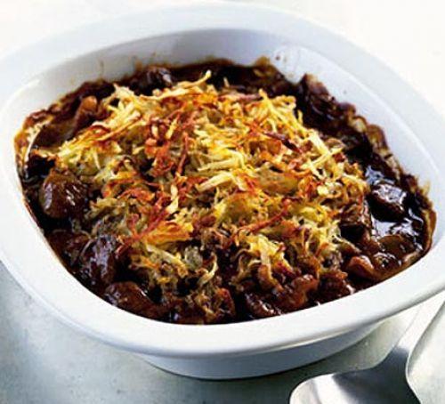 Beef pie with crisp potato crust | Recipe | Beef pies, Bbc ...