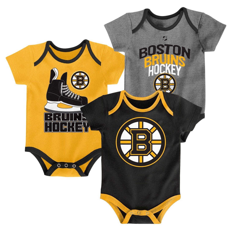 Boston Bruins Newborn Girls Hockey Hearts 2-Pack Creeper Set