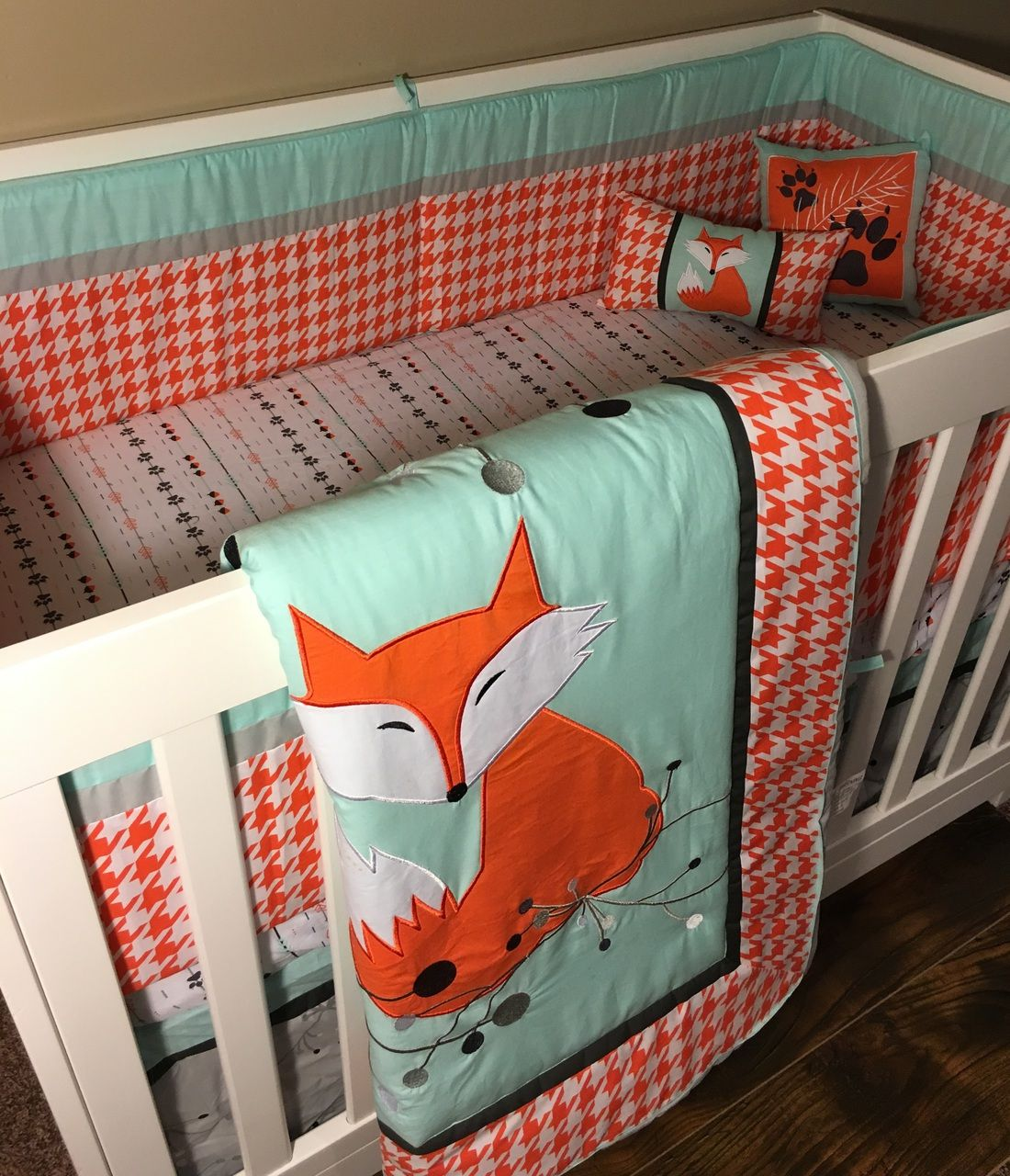 dkl clever as a fox crib bedding set | bed sets, crib and clever