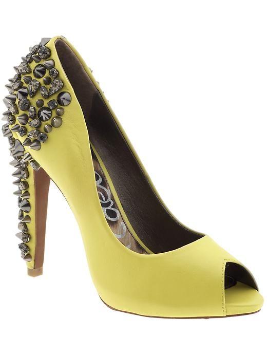 Sam Edelman. Yellow AND studded??? Amazeballs