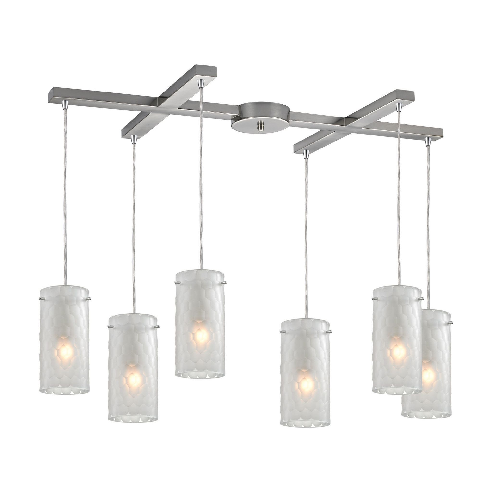 ELK Lighting 10243/6FC Synthesis Collection Satin Nickel Finish
