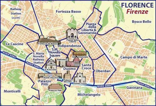 Mapa Turistico De Florencia.La Renacentista Ciudad De Florencia Europa Florencia