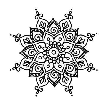 5 steps to know how to make easy mandala drawings