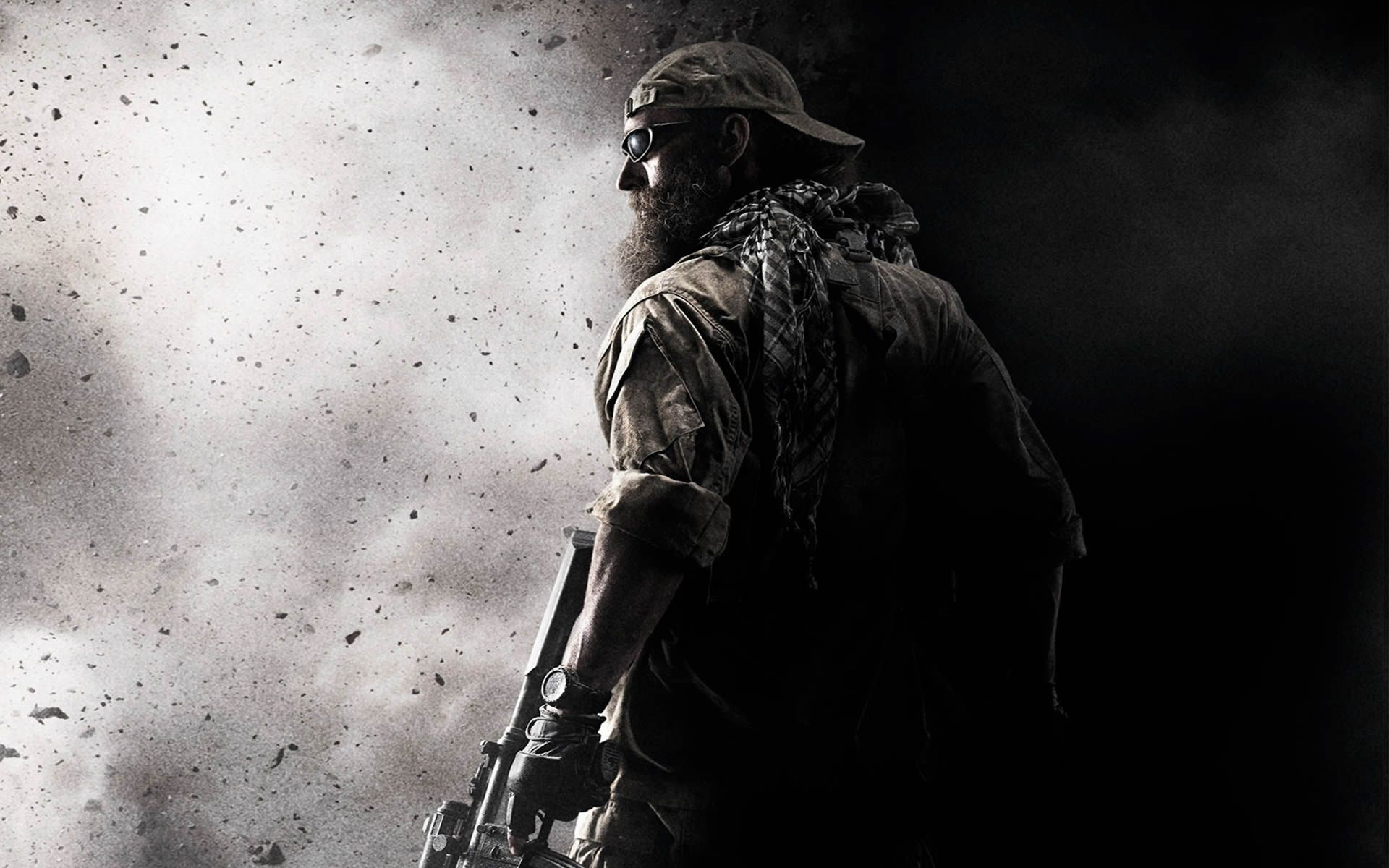 bearded marine war texture background (With images