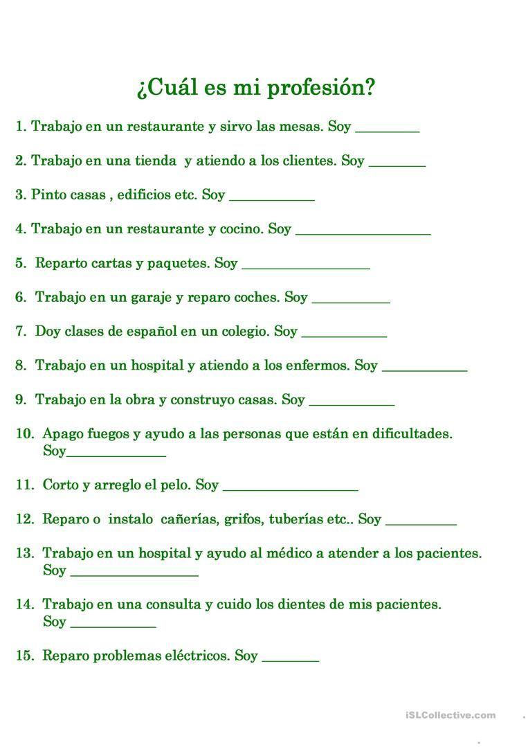 Pin von Márcia Brito auf .Actividades de Español para adolescentes ...