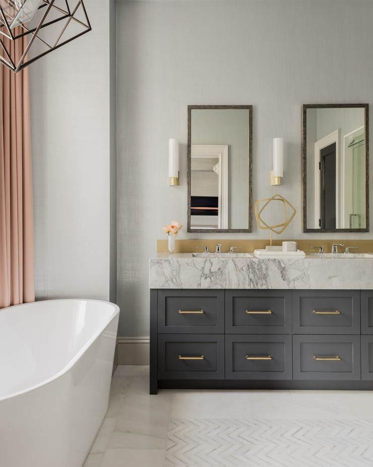 Marlborough Street Master Bathroom Bath Design Detail