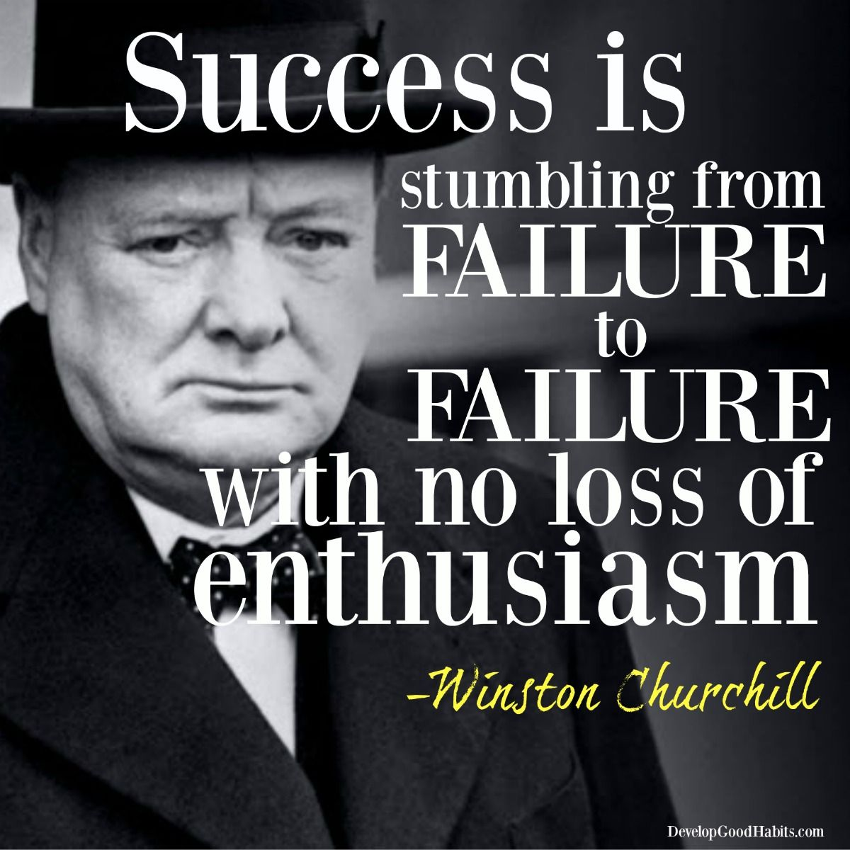 Winston Churchill Quote On Failure: 10 Picture Quotes On Failure And Success (from Histories