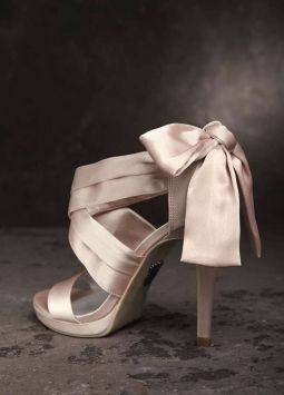 515a1366ac77 Vera Wang White Label Blush Bow Wedding Shoes  50