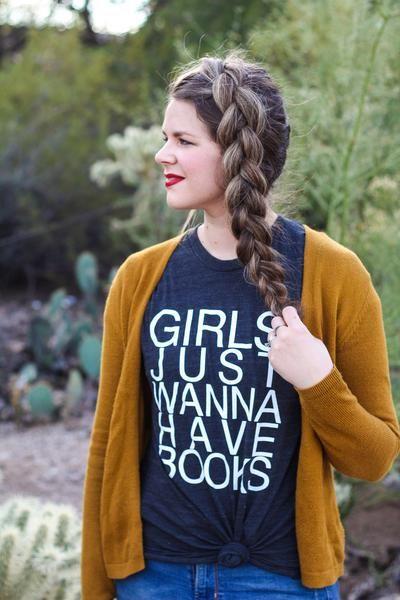 Girls Just Wanna Have Books Bookshelf Tees