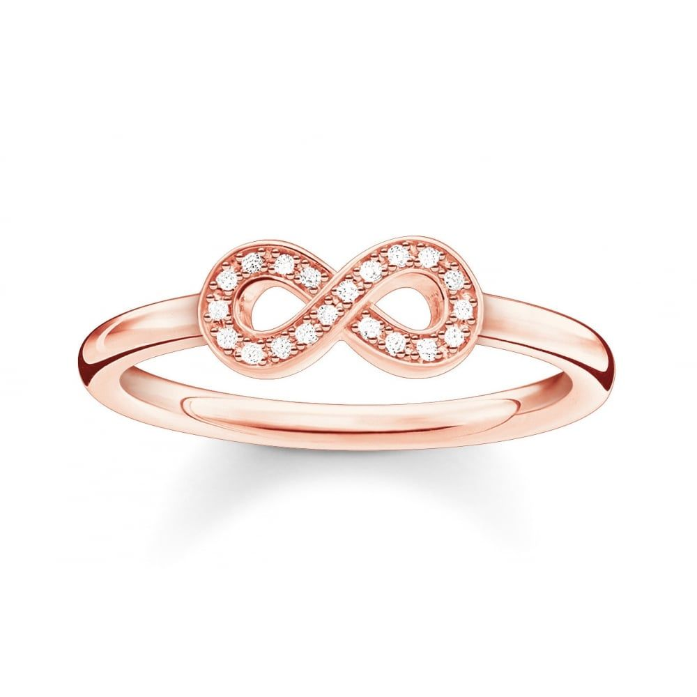 Thomas Sabo Glam And Soul Rose Gold Cubic Zirconia Ring Cubic Zirconia Rings Thomas Sabo Rings