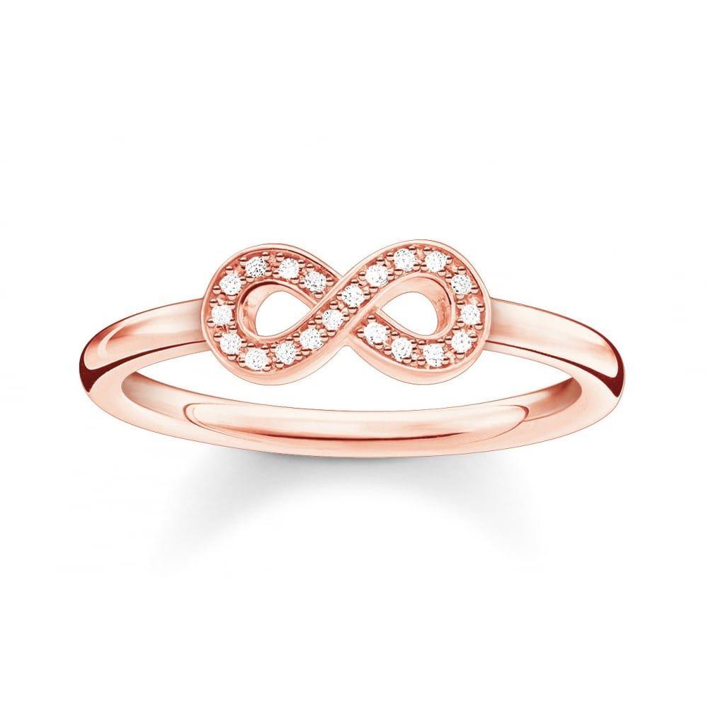 Thomas Sabo Rose Gold Diamond Infinity Ring Rose Gold Infinity Ring Gold Infinity Ring Infinity Diamond Ring