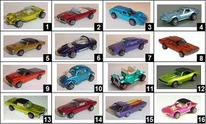 The first 16 Hot Wheel cars ever made.  I have all but a couple in great shape.