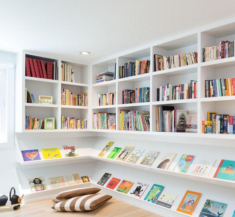 Floor Cushions In A Children S Reading Nook