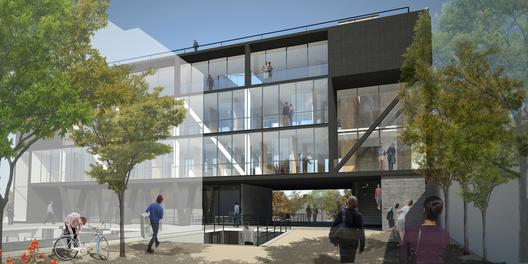 Ganadores Concurso Edificio Docente y de Investigación Escuela de Arquitectura UC,Courtesy of Equipo Pedro Murtinho Mención Honrosa