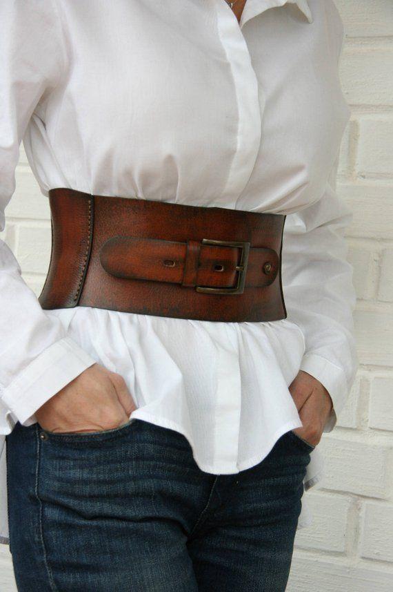 Leather Corset Belt For Women Wide Waist Belt Western Belt Waist