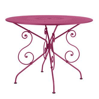 46 Inch Round Table.Fermob 1900 46 Inch Round Table With Parasol Hole Decorate Your