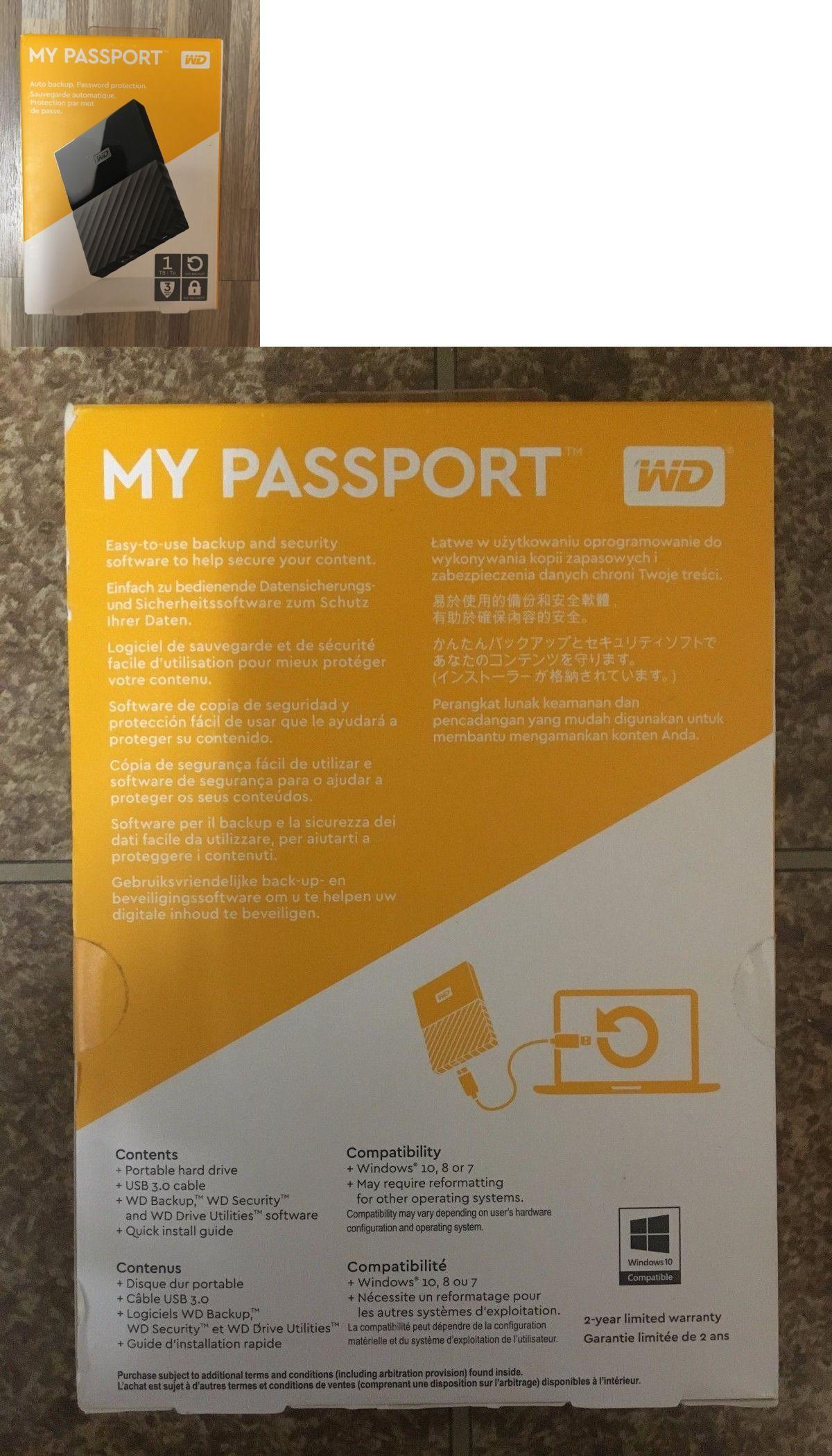 Drives Storage and Blank Media 165: Wd - My Passport 1Tb Usb 3 0