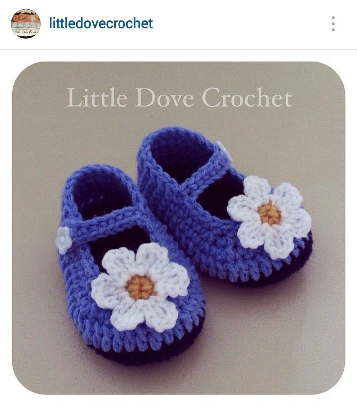 11a2c76ec8f42 Instagram @littledovecrochet - baby girl's crochet Mary Janes shoes ...