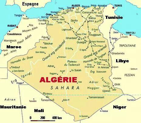 carte algerie