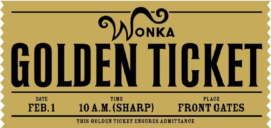image relating to Wonka Golden Ticket Printable called Pin upon Summer season College