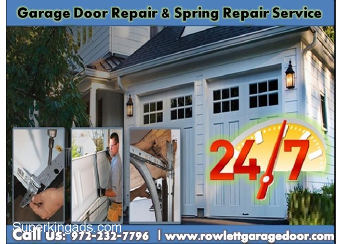 Garage Door Spring Repair Replacement Services Rowlett Tx