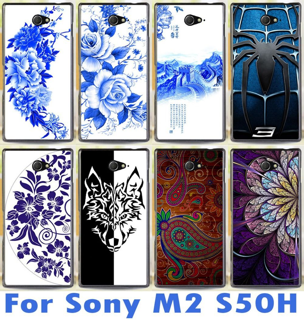 New Pattern Phone Case Freeshipping For Sony Xperia M2 S50h Dual D2302 D2305 D2303 D2306 Fashional Mobile Cover Hard