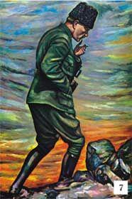 Ataturk Un Yagli Boya Tablosu Yagli Boya Poertre Resimleri Poster