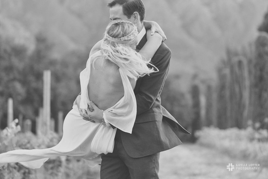 Wedding Photography Black and White Lizelle Lotter Bride & Groom
