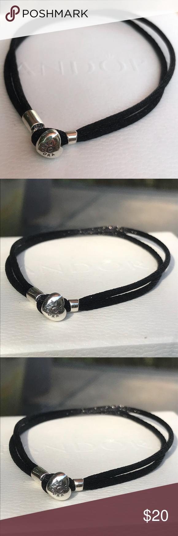 31a5407bd Pandora Moments Black Cord Bracelet Authentic Fabric Jewelry Bracelets