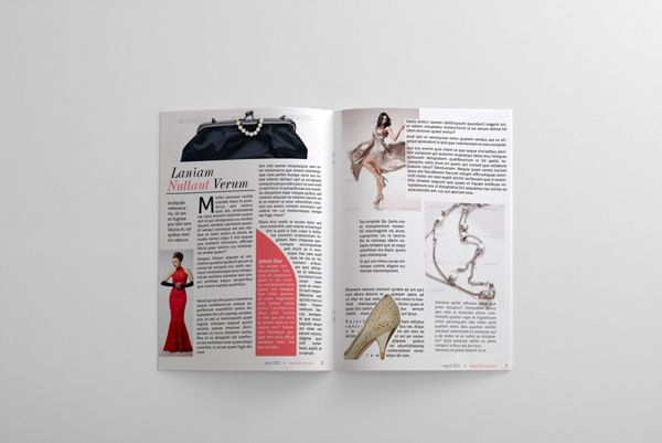 Vogue Magazine Template | 24 Pages Fashion Magazine Template on ...