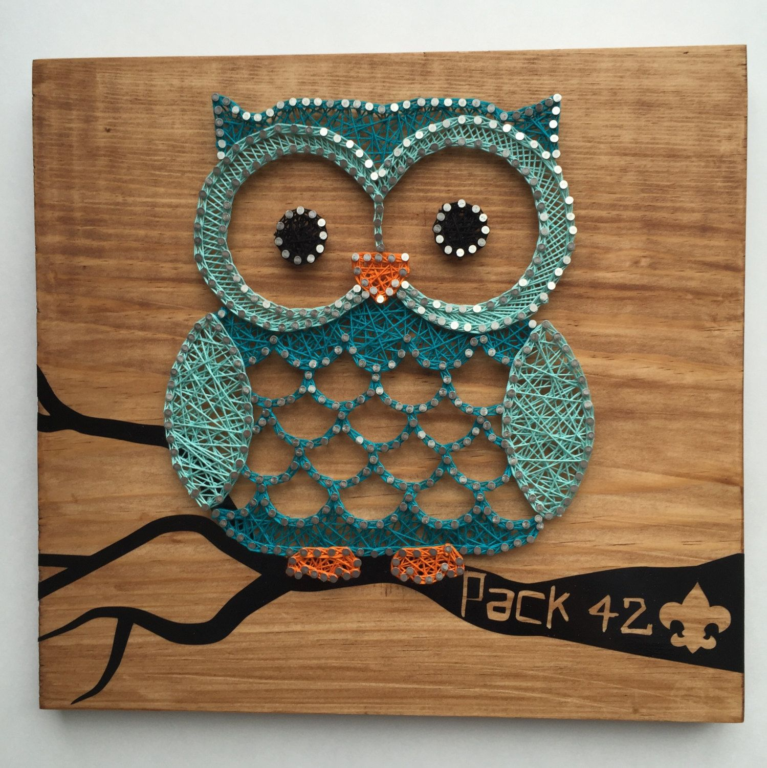 owl string art instructions