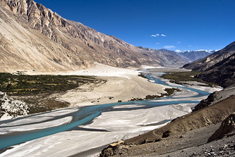 Nubra Valley in Ladakh  India, Nubra  is a Tri Armed Valley Located to the North East of Ladakh Valley.Ladakh in jammu kashmir