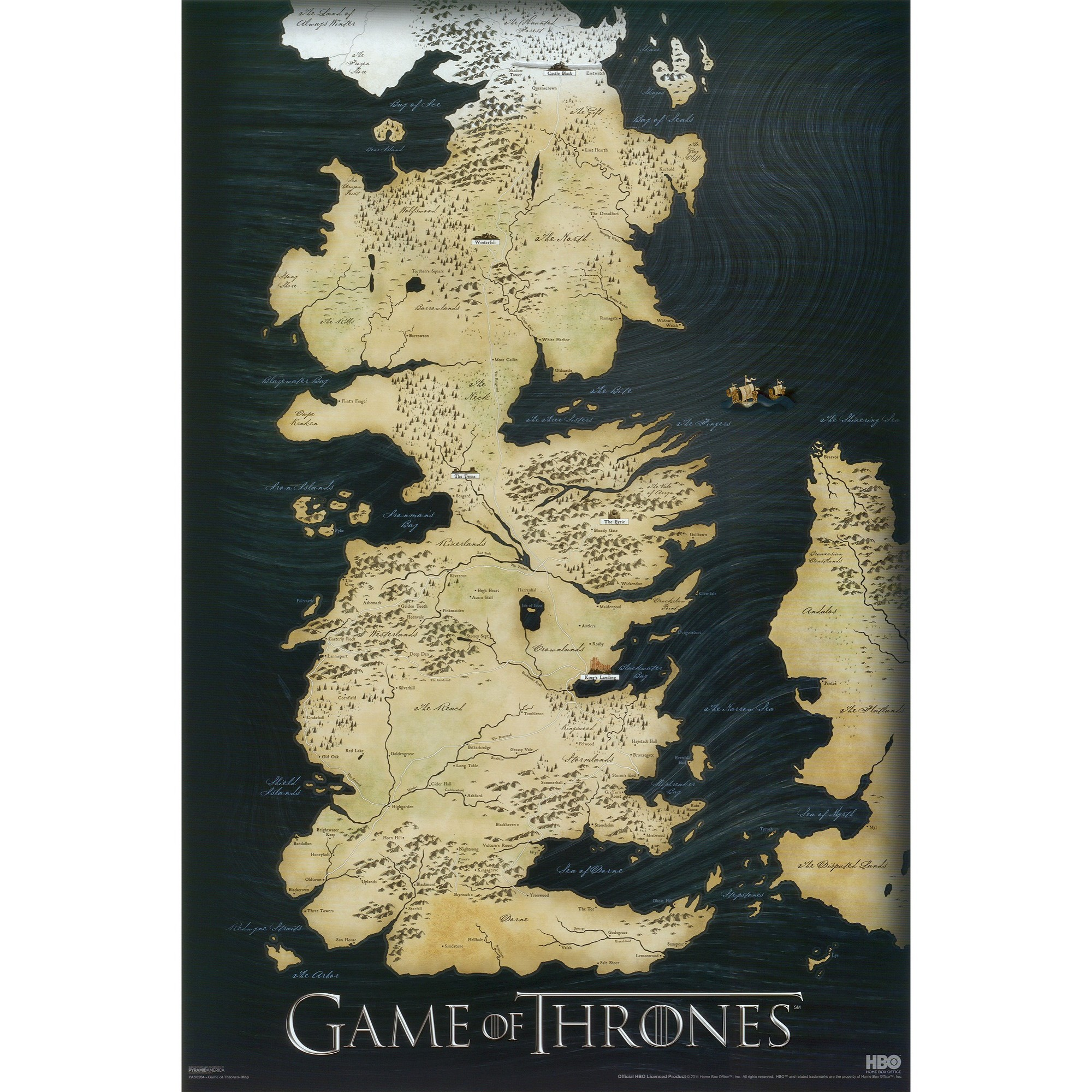 Art.com - Game of Thrones - Map Poster