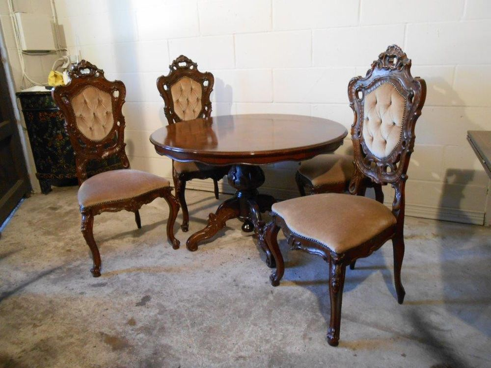 Italian Baroque Dining Table With 4 Chairs 10 07245 Baroque