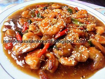 Udang Saus Tiram Resep Udang Resep Resep Masakan Indonesia