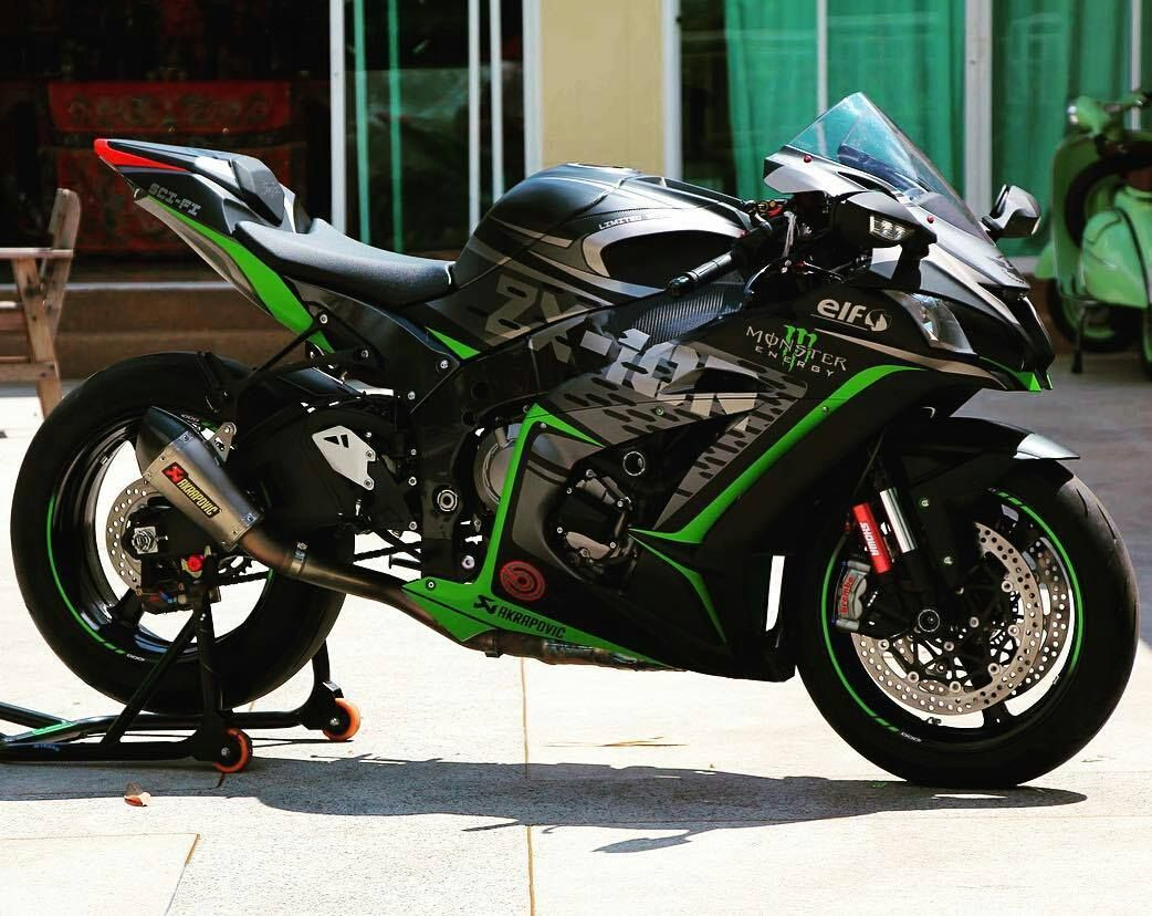 2013 Kawasaki ZX10R Monster Energy Súper motos