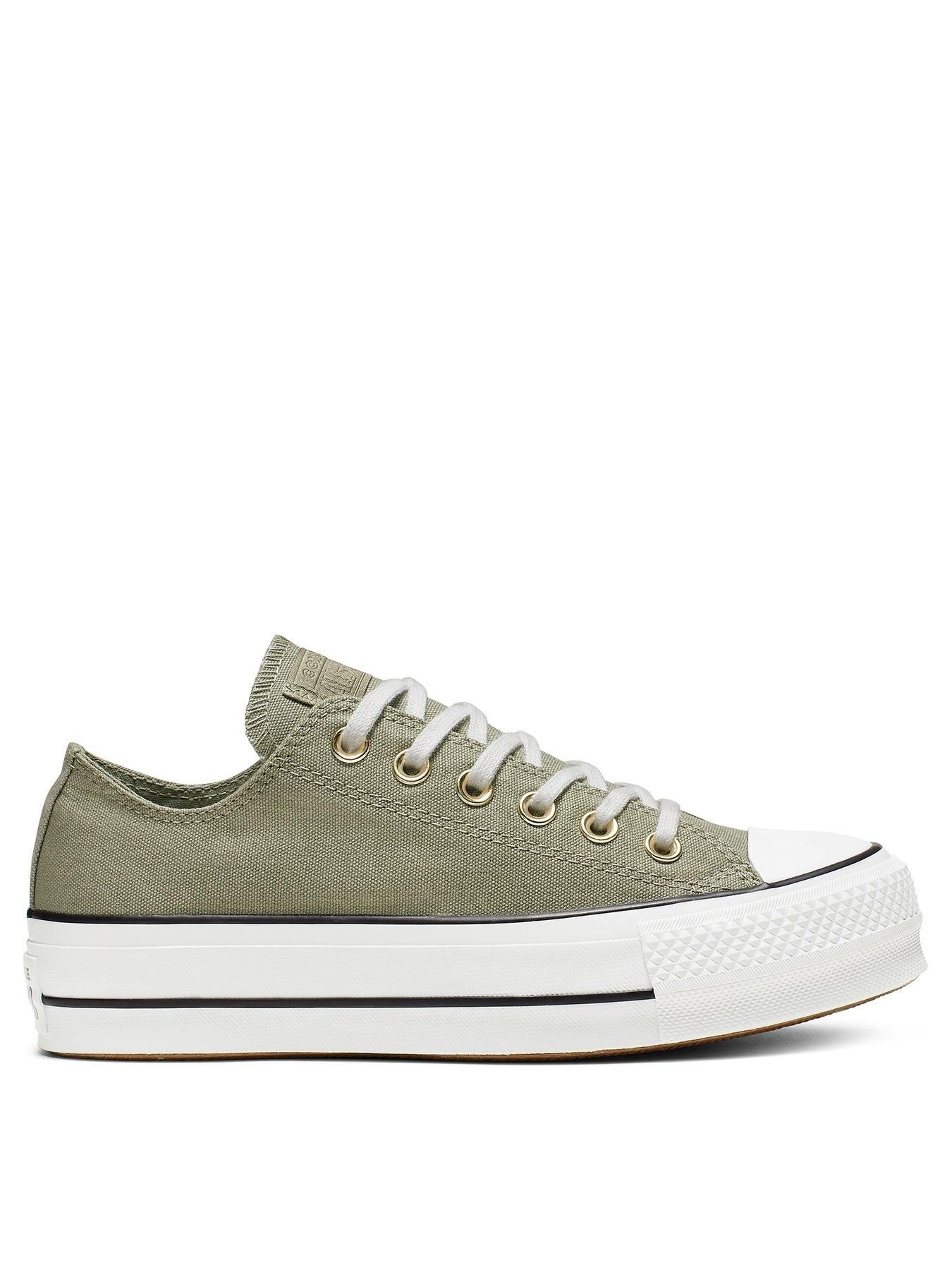 converse all star ox platform canvas
