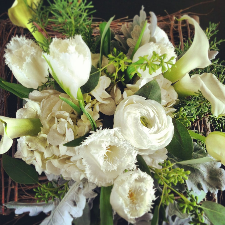 Rachels Bouquet White Winter Wedding Breck Bouquet Flowers