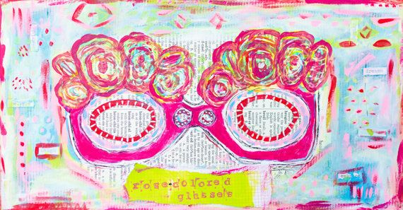 RoseColored GlassesMixed Media Print by TheRosyLife on Etsy, $18.00
