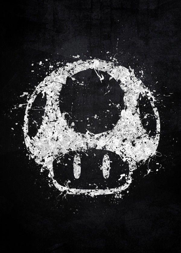 Super Mario Gaming Poster Print Metal Posters Desenhos