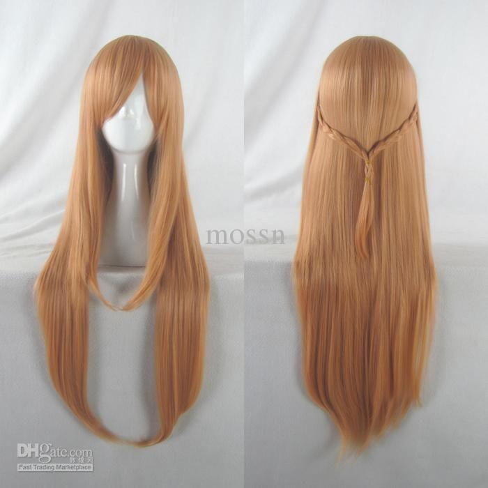 Sword Art Online Asuna Yuuki Braided Cosplay Wig Light Blue Synthetic Hair Wigs